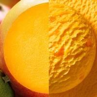 Ein Foto der Anzeigenkampagne der Marke Carte Dor von Unilever. Die Eissorte ist das Sorbet Mango.